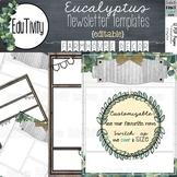 Eucalyptus Newsletter Template-Farmhouse Decor {Editable}