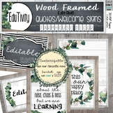 Eucalyptus Quotes/Class Welcome Signs