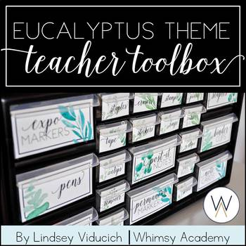 Eucalyptus Teacher Toolbox (EDITABLE)