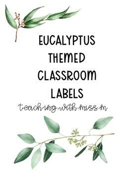 Eucalyptus Themed Classroom Labels (Editable) #ausbts18