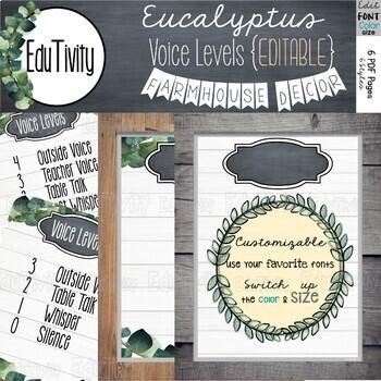 Eucalyptus Voice Level Poster