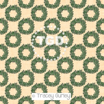 Eucalyptus Wreath on Sand Background digital paper Printable Tracey Gurley
