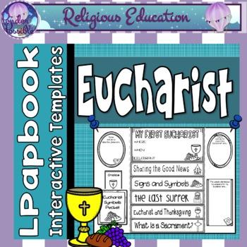Eucharist Activity Lap / Flip Book ~ Religious, First Communion, Sacraments