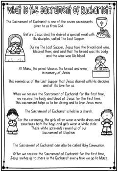 Eucharist ~ Religious, First Communion, Sacrament, Last Supper, Mass