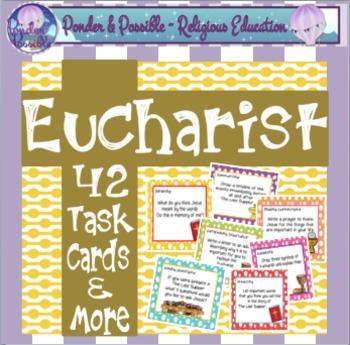 Eucharist Task Cards ~ First Communion, Sacrament, The Las