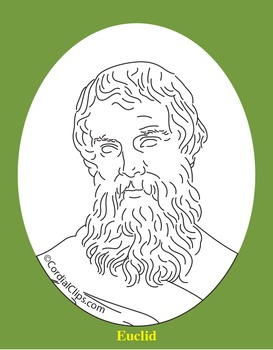 Euclid Clip Art, Coloring Page, or Mini-Poster