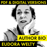Eudora Welty Author Study Worksheet, Easy Welty Biography Activity, CCSS