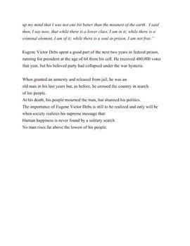 Eugene Victor Debs: The Politics of Hope