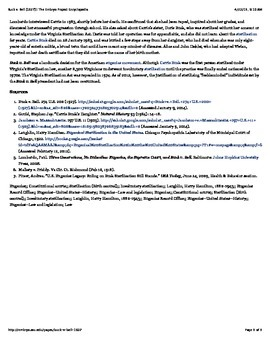 Eugenics in America - Buck v. Bell (computer activity for Macs)