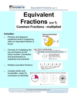 Equivalent Fractions (set 1) easily explained