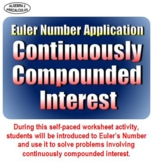 Euler Number Application: Continuously Compounded Interest