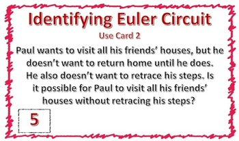 Euler Path Task Cards