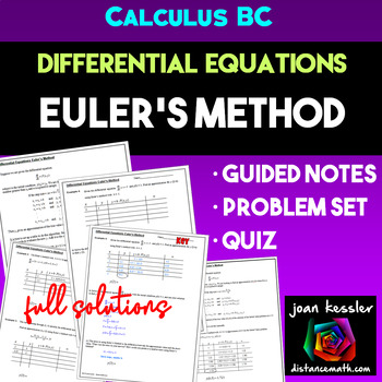 Euler's Method Differential Equations Calculus  | Distance Learning