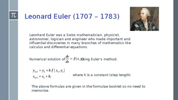 Euler's numerical method to solve differential equations.
