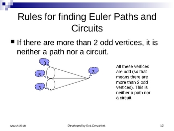 Euler's Paths and Circuits