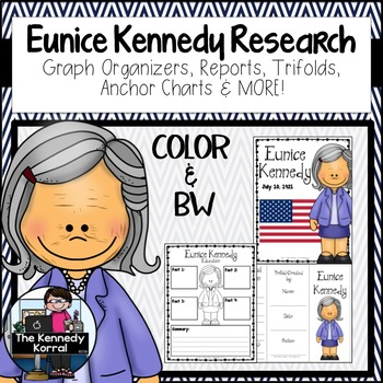Eunice Kennedy: Biography Research Bundle {Report, Trifold