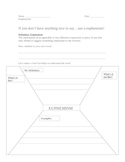 Euphemisms worksheet:  Definition, Common usages, and Fun