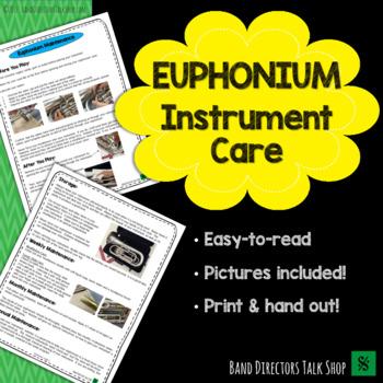 Euphonium Instrument Care