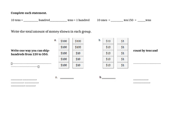 Eureeka Math Great Minds Second Grade Module 3 End Module Assessment Review