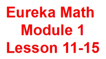 Eureka 1st Grade Module 1 Lessons 11-15 (Engage New York)