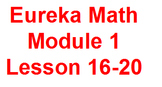 Eureka 1st Grade Module 1 Lessons 16-20 (Engage New York)