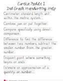 Eureka 2nd Grade Module 2 Vocabulary Handwriting Help