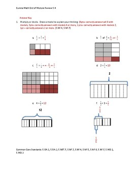 Eureka Math / Engage NY 5th Grade End-of-Module Review - Module 4