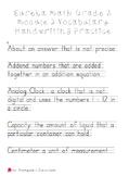 Eureka 3rd Grade Vocabulary Handwriting Help