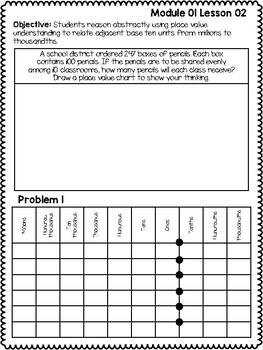Eureka 5th Grade Module 1 Student Materials