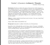 Eureka!  A Lesson in Archimedes' Principle