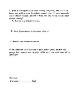 Eureka (Engage NY) Grade 5 Module 4 end of module practice