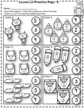 Eureka (Engage NY) Math Kindergarten Module 1 Topic C Lessons 7-11