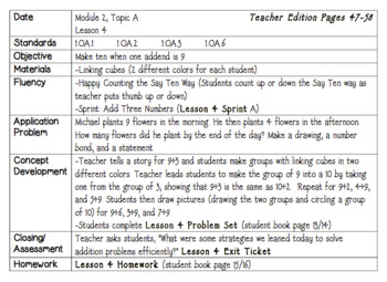 Eureka Math Lesson Plans First Grade Module 2
