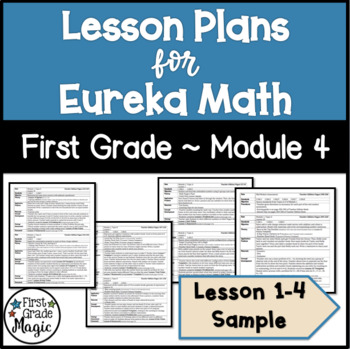 Eureka Math Lesson Plans First Grade Module 4 SAMPLE FREEBIE