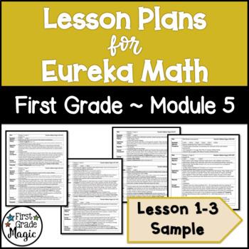 Eureka Math Lesson Plans First Grade Module 5 SAMPLE FREEBIE