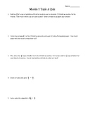 Eureka Engage NY Math 6th Grade Module 2 Topic A Quiz