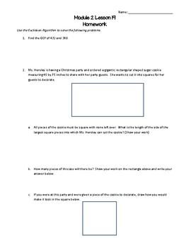 Eureka/EngageNY 6th Grade Math Module 2 Lesson 19 Worksheet