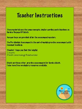 Eureka/EngageNY Grade 6 Module 1 Practice Assessments