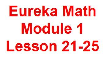 Eureka Flip Charts for Module 1 Lessons 21-25.