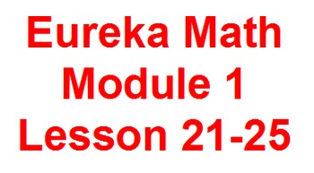 Eureka Flip Charts for Module 1 Lessons 21-25.