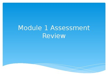 Eureka Grade 1 Module 1 Assessment Review PPT