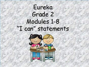 Eureka Grade 2 I Can statements