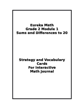Eureka Grade 2 Module 1 Strategy/Vocabulary Cards