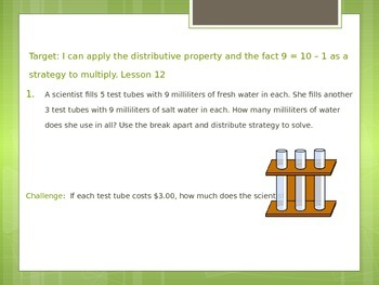 Eureka Grade 3 Module 3 Application Problems/ Entry Task PowerPoint
