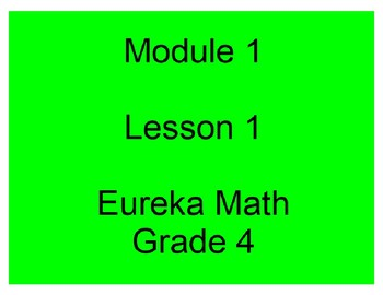 Eureka Grade 4 Module 1 Lesson 1 Mimio .Ink and pdf slides