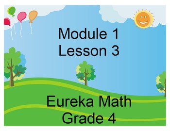 Eureka Grade 4 Module 1 Lesson 3 Mimio .INK and Pdf slides