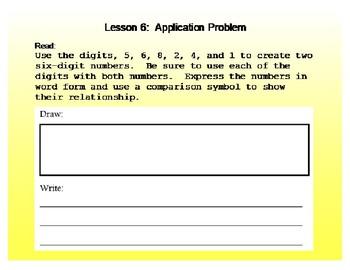 Eureka Grade 4 Module 1 Lesson 6 Mimio .INK and pdf slide