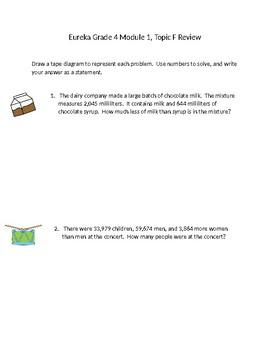 Eureka Grade 4 Module 1 Topic Sheets