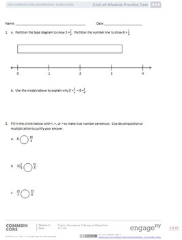Eureka Grade 4 Module 5 Practice Test