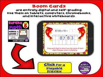 Eureka Grade 5 Module 1 Lesson 1 Digital Boom Cards Task